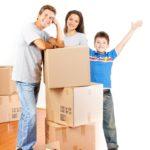 семья и коробки
